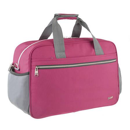Дорожная сумка TONGSHENG 55x37x23 нейлон бордовая  кс99501бор, фото 2