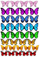 "Вафельная картинка ""Бабочки"" 3"