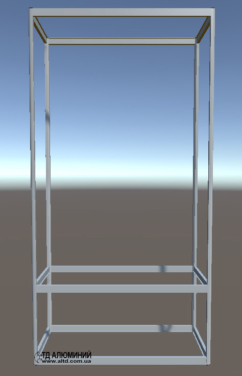 Стеллажи витрины | Конструктор из торговых профилей М-19