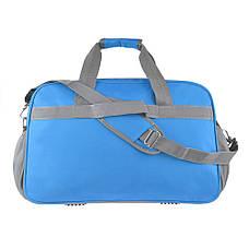 Дорожная сумка TONGSHENG нейлон 55x37x23 голубая  кс99501гол, фото 3