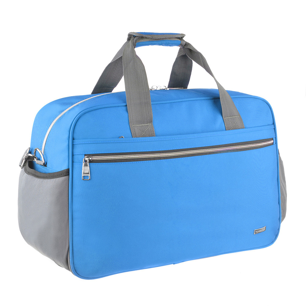 Дорожная сумка TONGSHENG нейлон 55x37x23 голубая  кс99501гол
