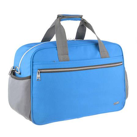 Дорожная сумка TONGSHENG нейлон 55x37x23 голубая  кс99501гол, фото 2