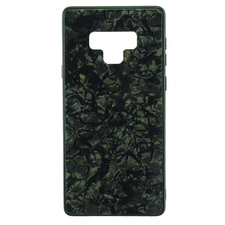 Чехол накладка Glass Case Мрамор Samsung Note 9 N960 черный