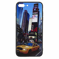 Чехол накладка Glass Case New Apple iPhone 7 Plus, 8 Plus такси