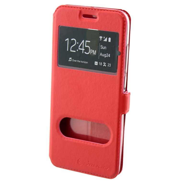 Чехол-книжка Nillkin 2 окна Xiaomi Mi5x, Mi A1 красный