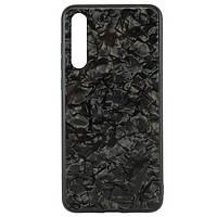 Чехол накладка Glass Case Мрамор Huawei P20 Pro черный