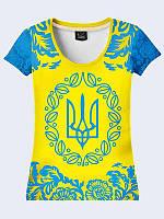 Женская  футболка с гербом Украины