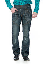 Мужские джинсы Franco Benussi 1197 Синие с зеленым отливом