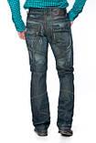 Мужские джинсы Franco Benussi 1197 Синие с зеленым отливом, фото 3