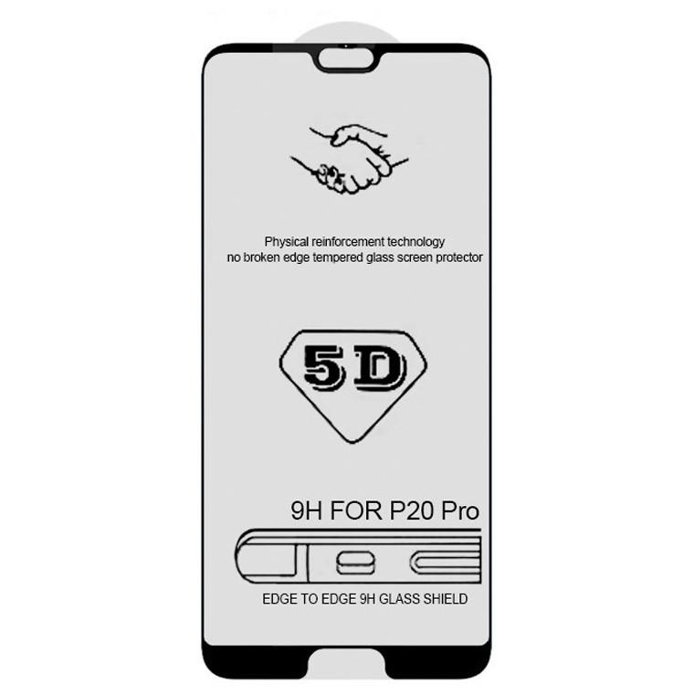 Защитное стекло 5D Huawei P20 Pro black тех.пакет