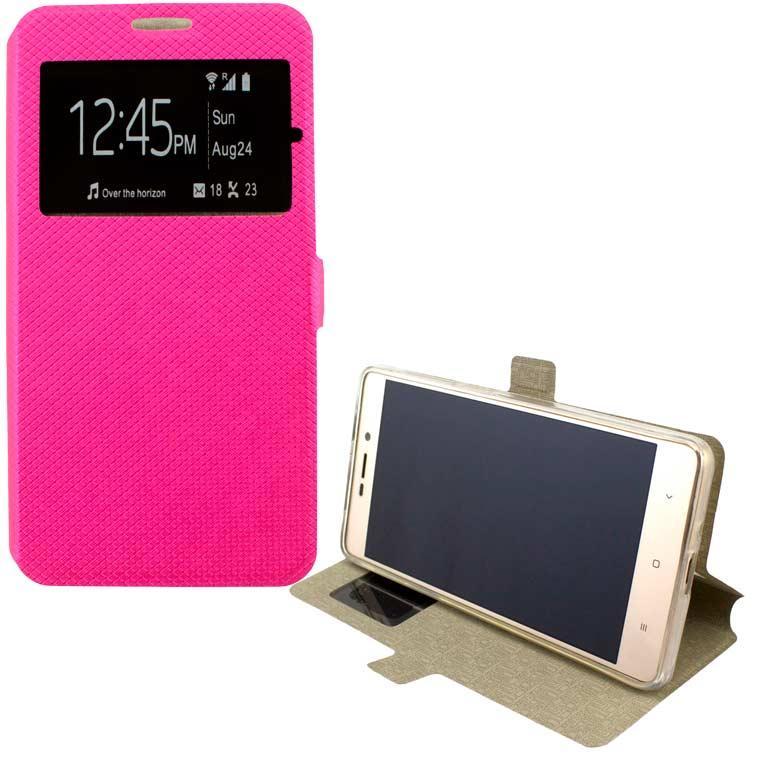 Чехол-книжка Modern 1 окно Huawei Y3 2017, Y3 2018 розовый