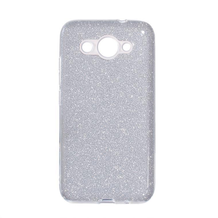Чехол силиконовый Shine Huawei Y3 2017, Y3 2018 серебристый