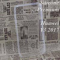 Чехол силиконовый Premium Huawei Y3 2017, Y3 2018 прозрачный