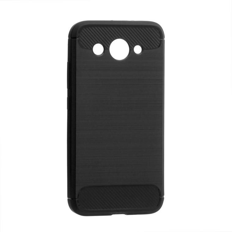Чехол силиконовый Polished Carbon Huawei Y3 2017, Y3 2018 черный