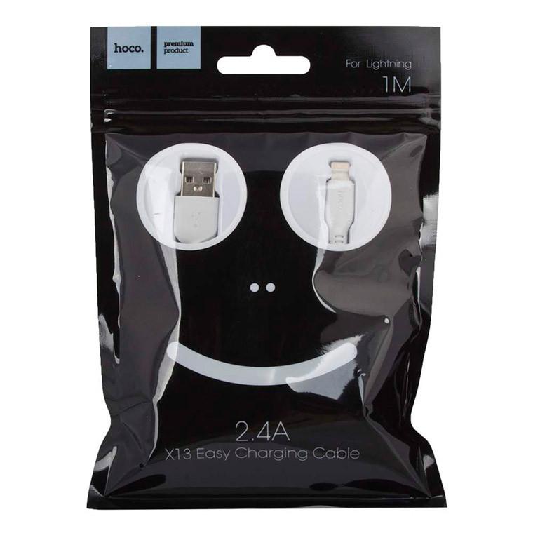 Кабель USB - Lightning HOCO X13 1m белый