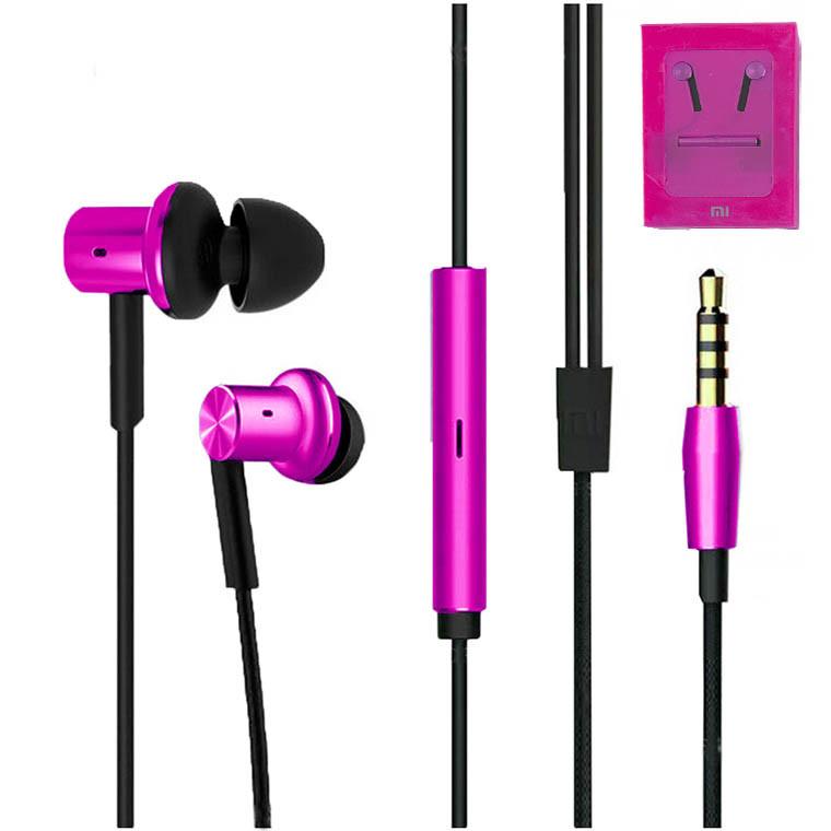 Наушники с микрофоном Xiaomi Mi Hybrid Piston 4 (High copy) розовые
