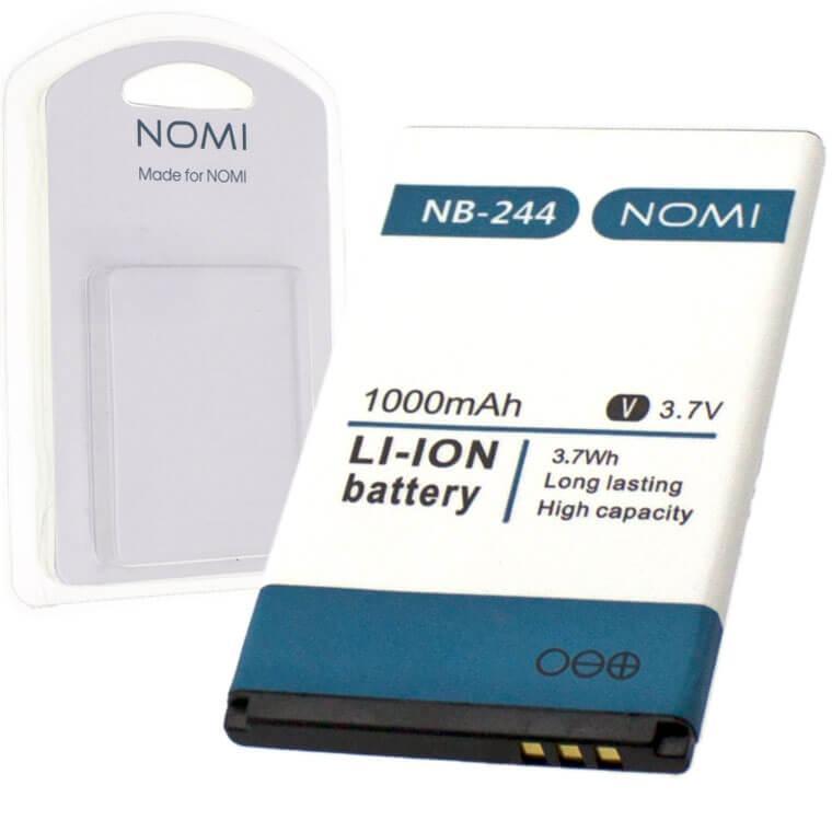 Аккумулятор NOMI NB-244 для i244 1000 mAh AAAA/Original в блистере