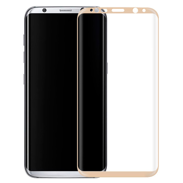Защитное стекло 3D Samsung S8 Plus G955 gold тех.пакет