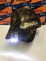 Кепка камуфляжная с диодным фонариком