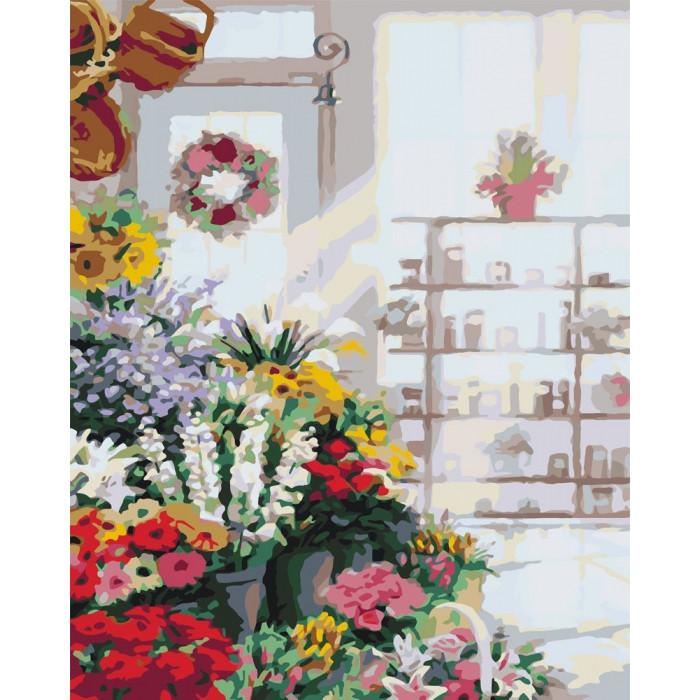 Картина по номерам Идейка - В цветочном магазине 40x50 см (КНО2023)