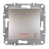 Кнопка «Свет» с подсветкой самозажимные контакты Бронза Schneider Asfora plus (EPH1800169)