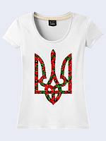 Женская  футболка с трезубцем