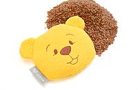 Подушка-грелка для новорожденных от коликов, семена льна Мишка 12х11см