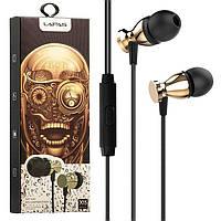 Наушники с микрофоном Lapas X15 золотистые