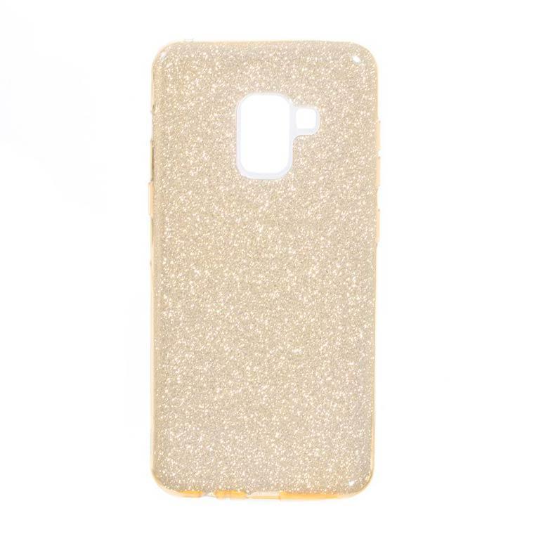 Чехол силиконовый Shine Samsung A8 Plus 2018 A730 золотистый