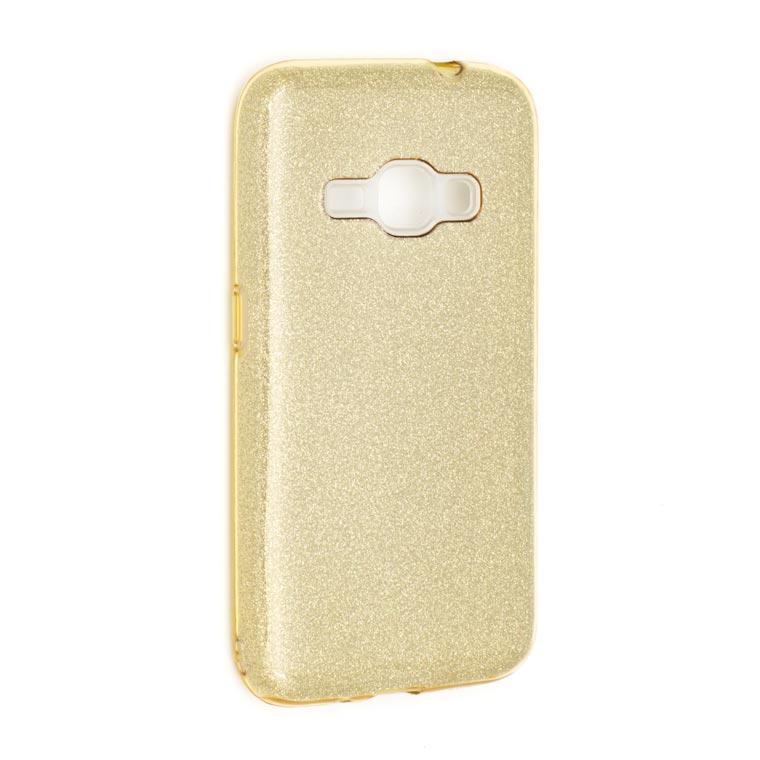 Чехол силиконовый Shine Samsung J1 2016 J120 золотистый