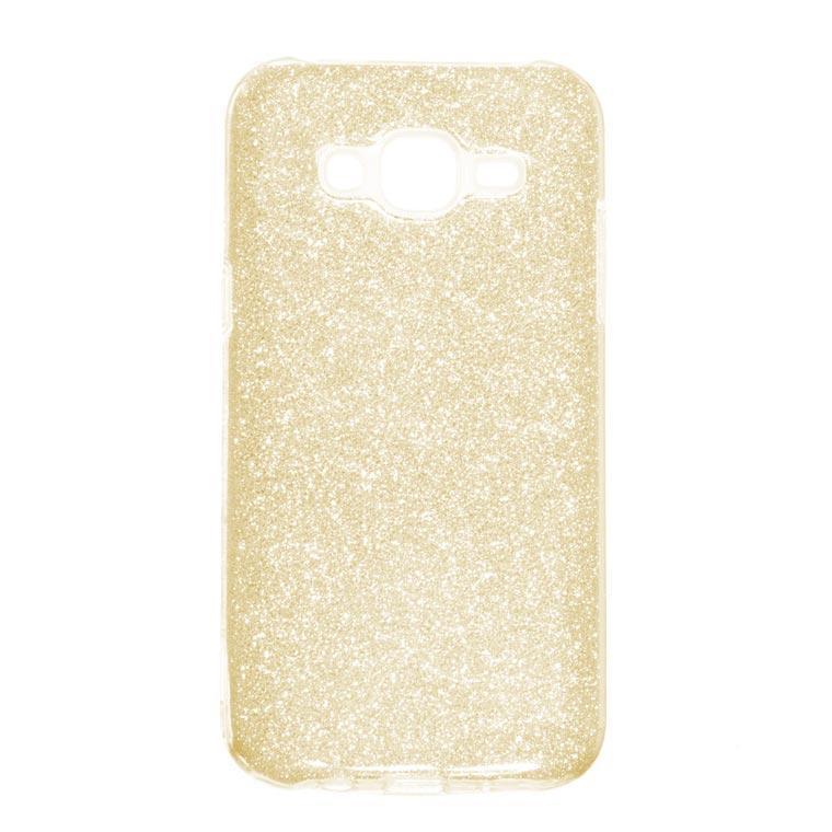 Чехол силиконовый Shine Samsung J5 2015 J500 золотистый