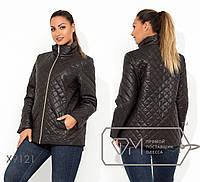 Стёганая куртка женская на молнии (2 цвета) - Ромб НВ/-54036/1