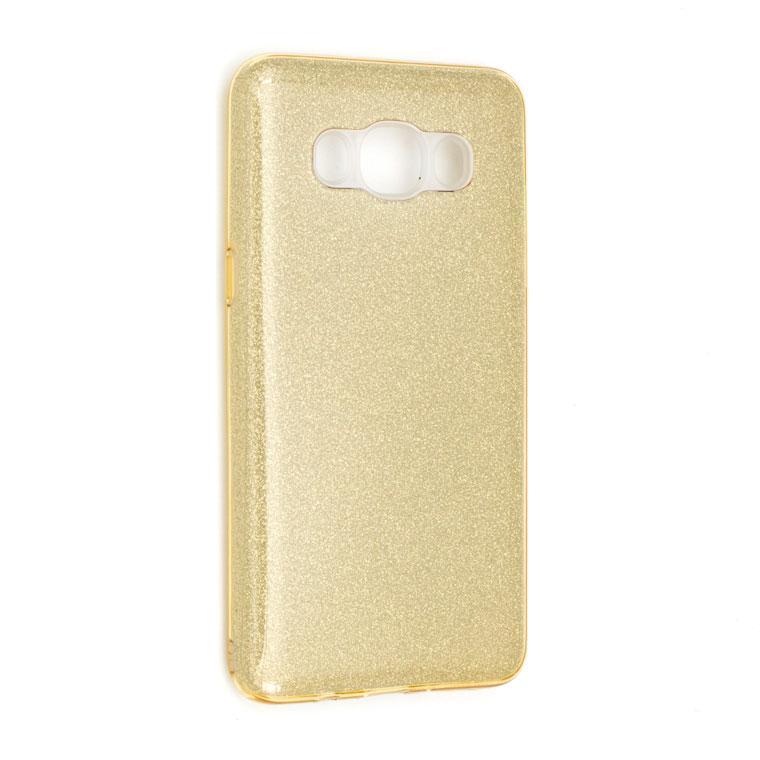 Чехол силиконовый Shine Samsung J7 2016 J710 золотистый
