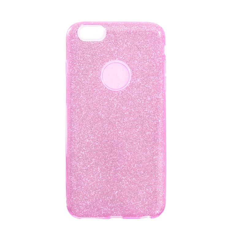 Чехол силиконовый Shine Apple iPhone 6, 6S розовый