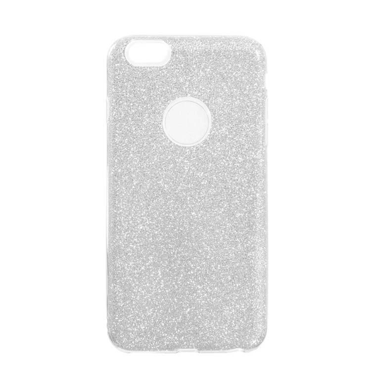 Чехол силиконовый Shine Apple iPhone 6, 6S серебристый