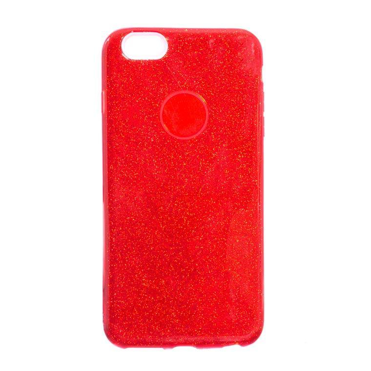 Чехол силиконовый Shine Apple iPhone 6, 6S красный
