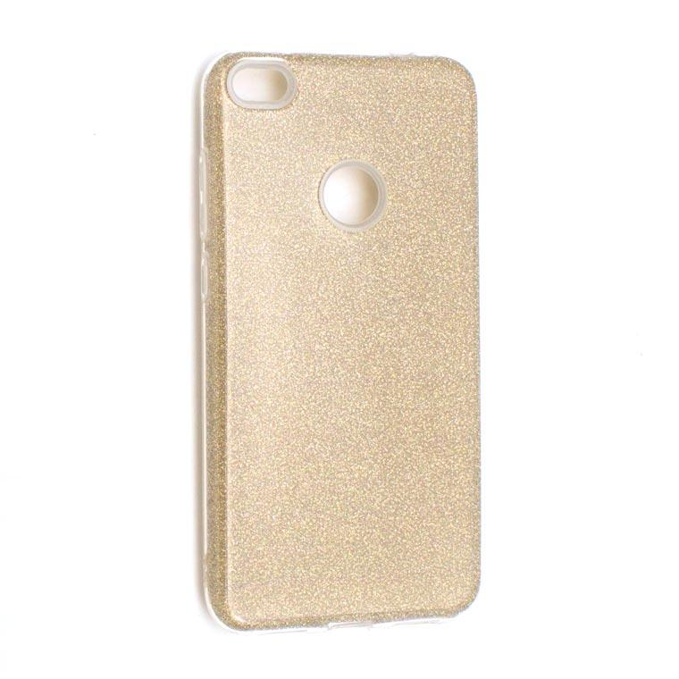 Чехол силиконовый Shine Huawei P8 Lite 2017 золотистый