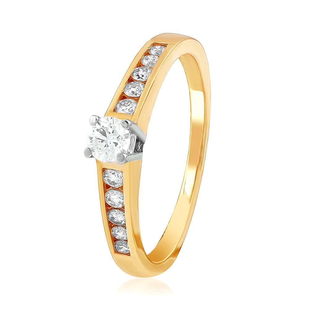 """Золотое кольцо с бриллиантами """"Пламенная страсть"""", КД7470 Эдем"""
