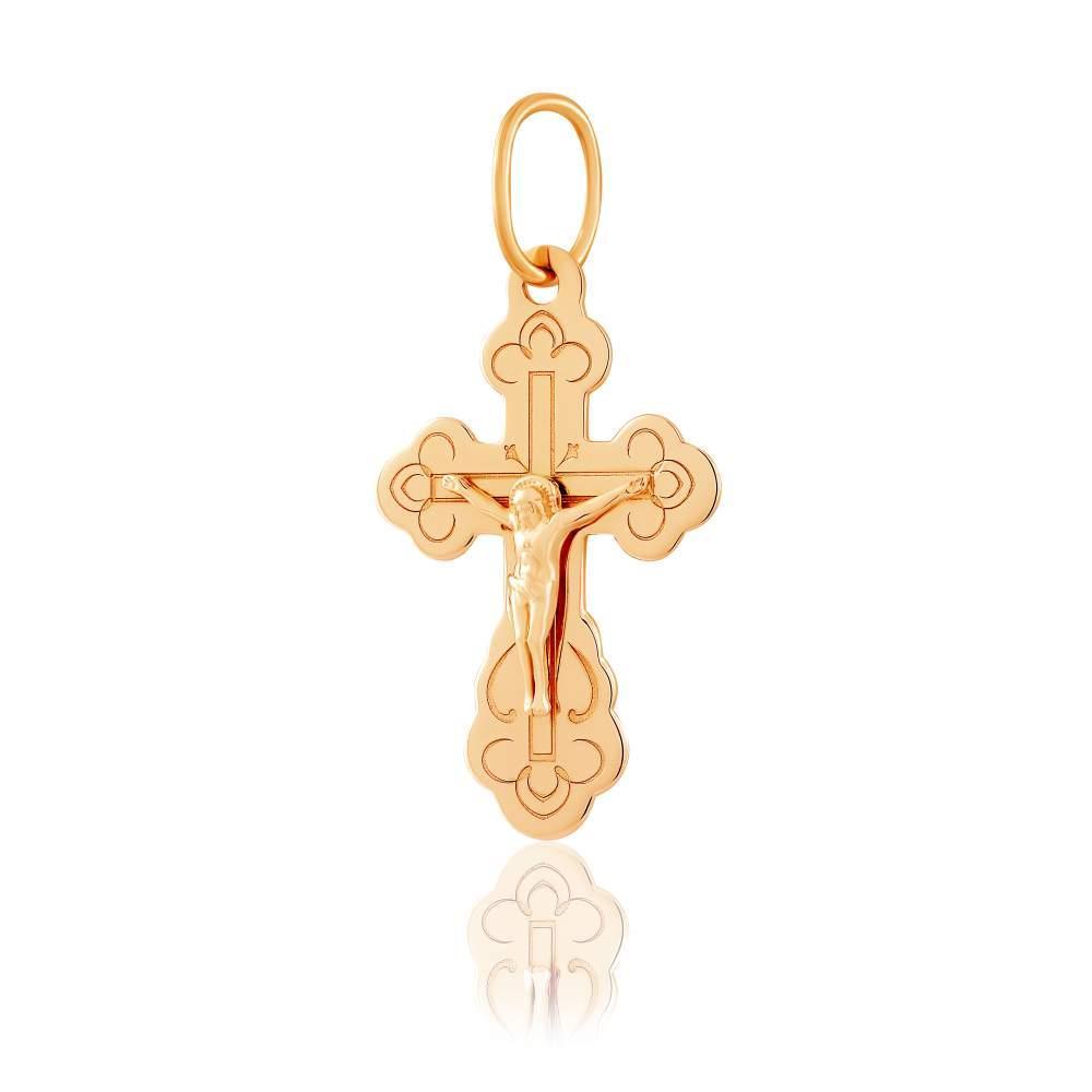 Золотой нательный крест, КР067 Eurogold