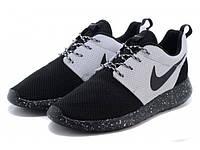 Nike Roshe Run Black White, фото 1