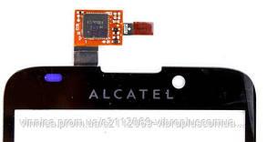 Тачскрин (сенсор) Alcatel OT-995, black (чёрный), фото 2