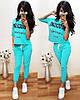 """Жіночий літній Костюм """"Moschino"""" з прямою футболкою (42,44,46,48 - 425грн 50,52,54 -480грн.)"""