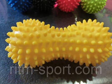 Двойной мяч массажный в форме арахиса с шипами, фото 2
