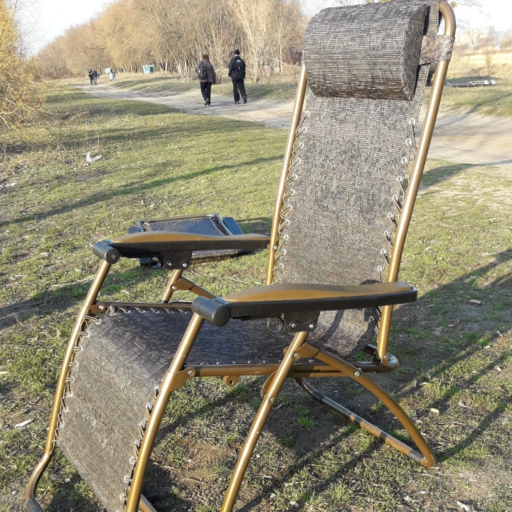 Шезлонг кресло для отдыха на природе 140 кг