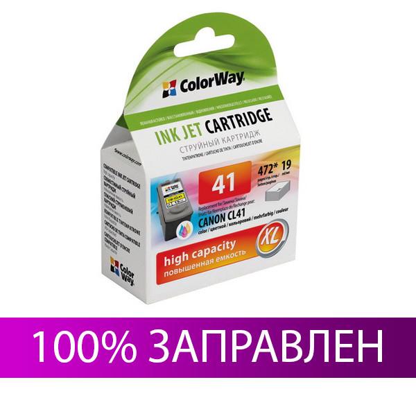Картридж Canon CL-41, Color (Цветной), iP1200/1800/2500, MP140/170/180/210/450/470, ColorWay (CW-CCL41)