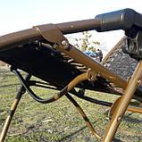 Шезлонг кресло для отдыха на природе 140 кг, фото 4