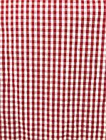 Рубашечная ткань красная клетка (ш 140 см) Ркл-01