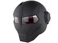 Мотоциклетний шолом Soman Размер XL Чорний