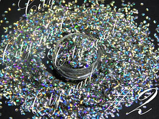 Дизайн нігтів Риб'яча луска - Лусочки для дизайну нігтів №2 - срібло