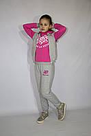 Яркий детский спортивный костюм тройка на девочку (Украина) , 98-104-110-116 рост